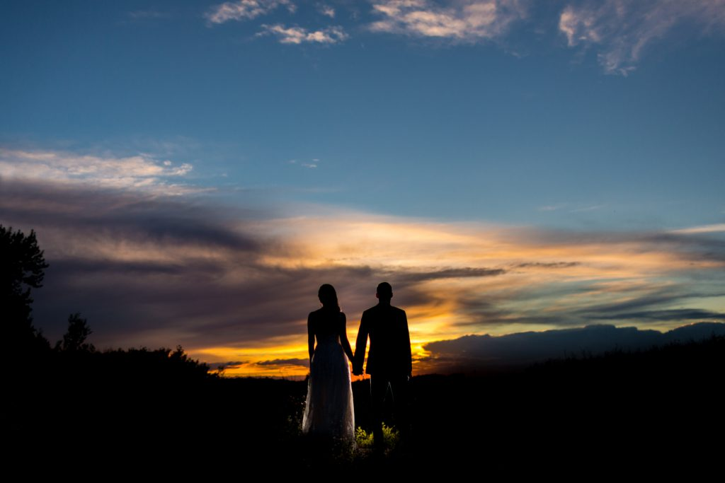 sunset wedding portraits edmonton
