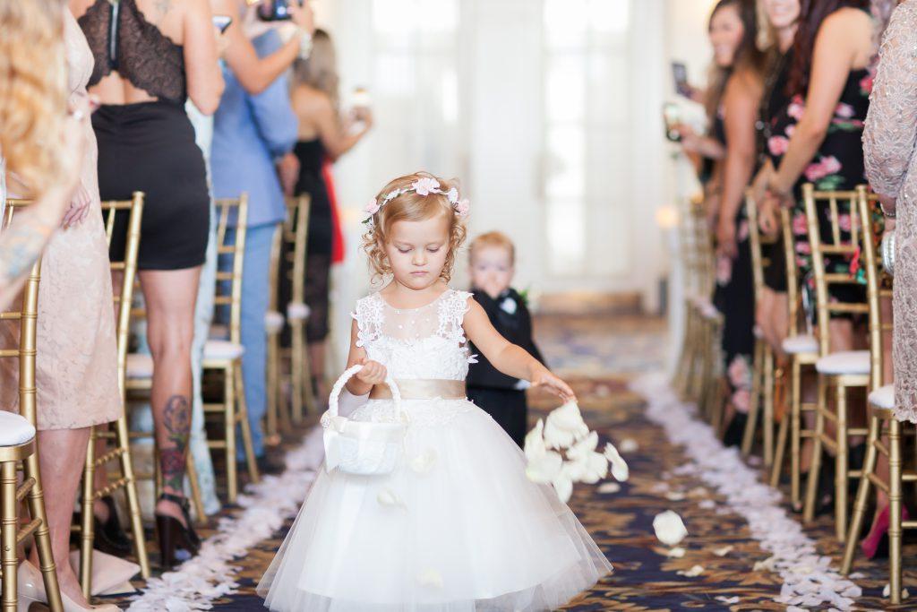 Wedding ceremony processional Empire Ballroom