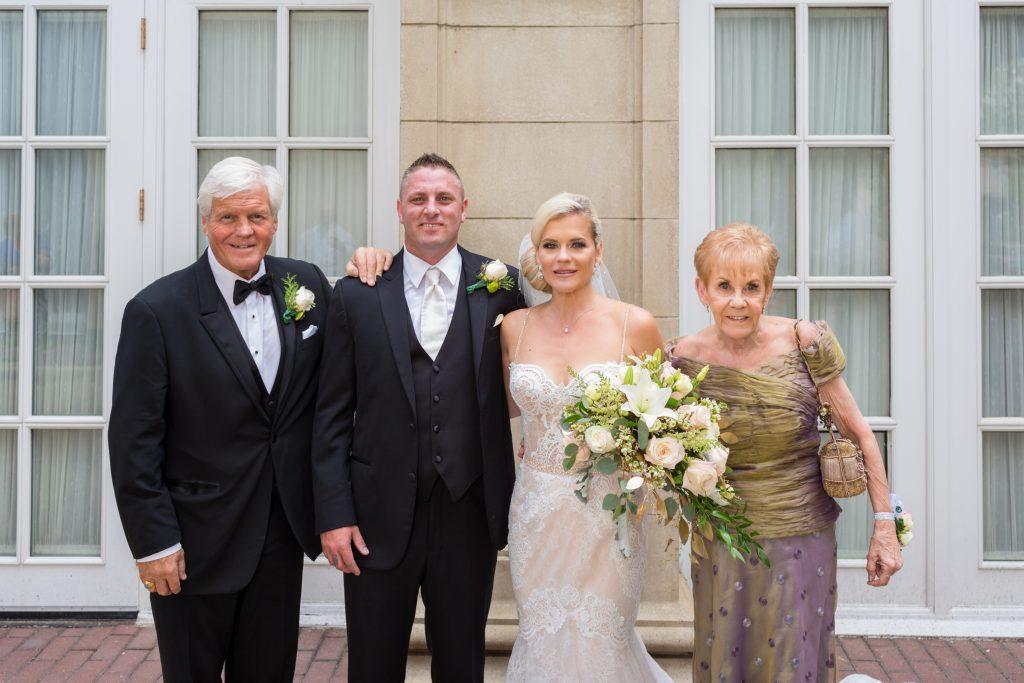 Brides family portrait Hotel MacDonald