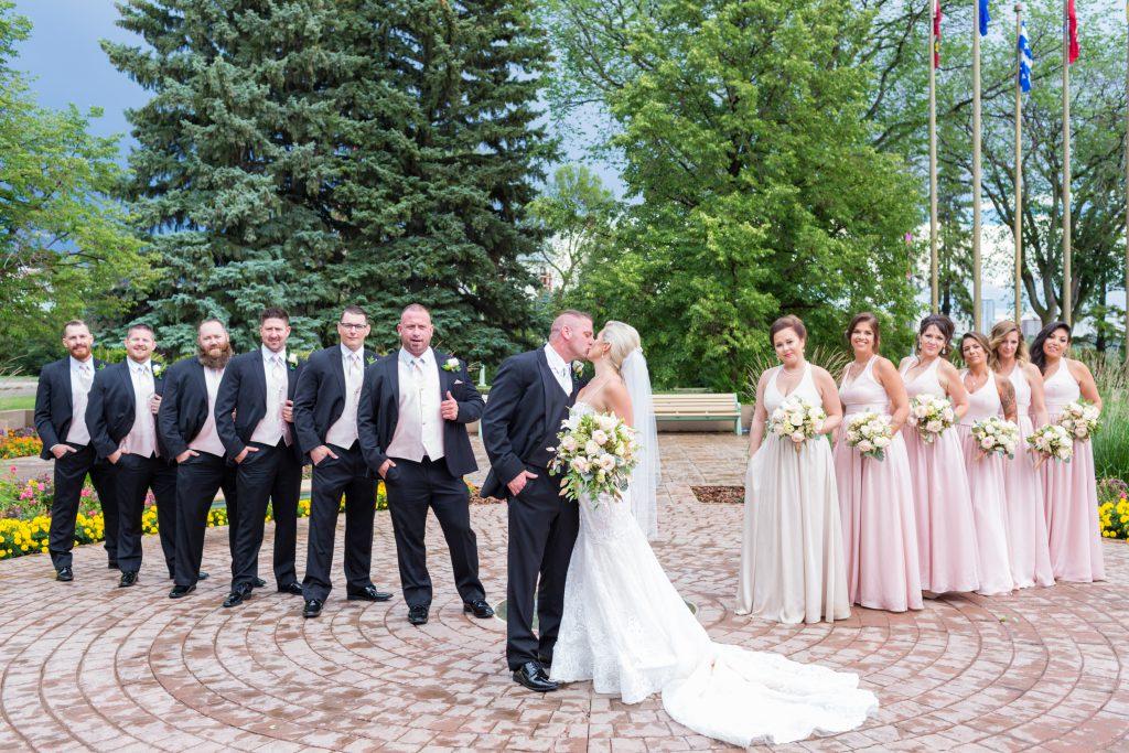 Wedding party portraits Edmonton