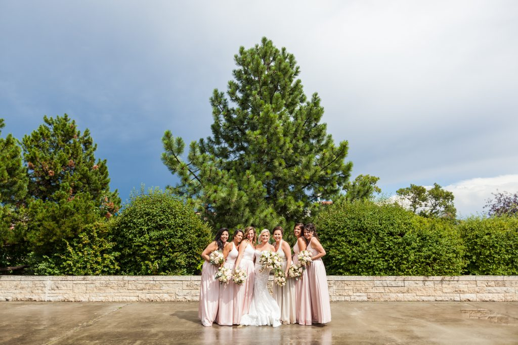 Stormy wedding party photos