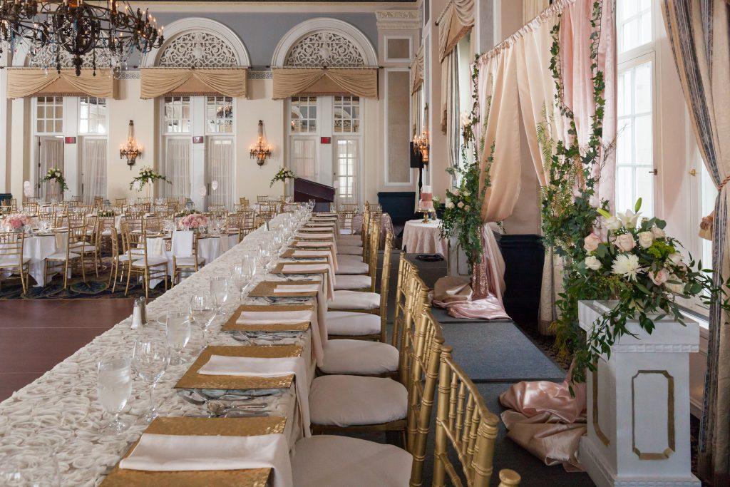 Empire Ballroom Wedding reception