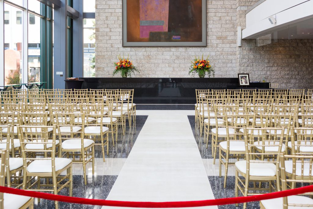 Winspear lobby wedding