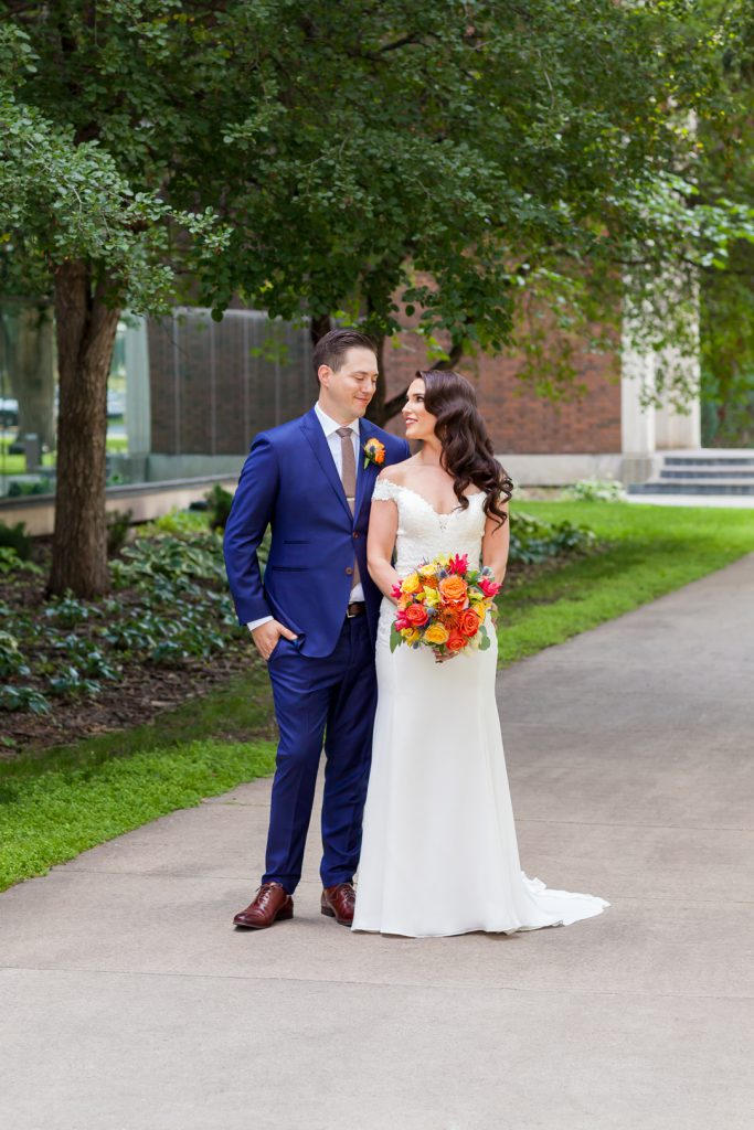 Outdoor wedding photos at u of a