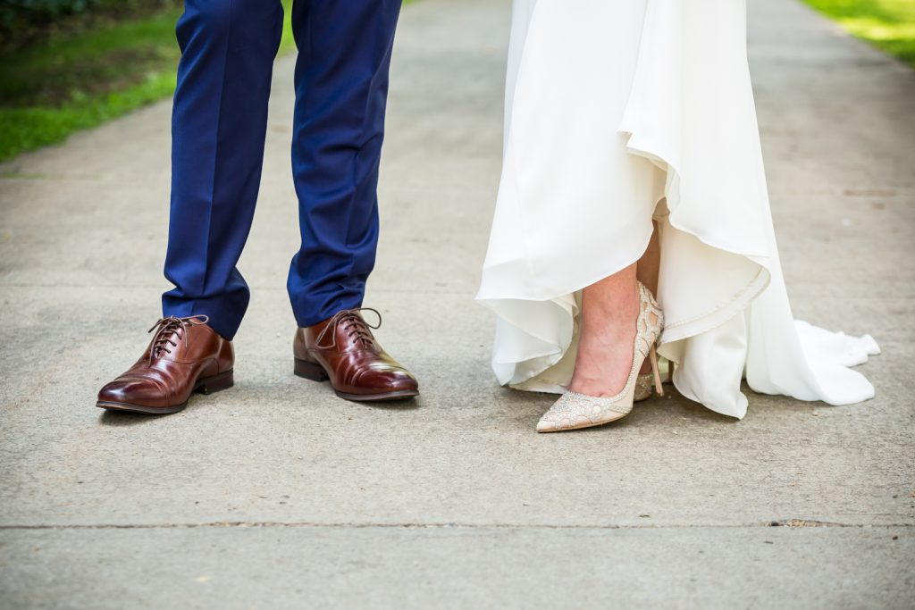 Cute wedding shoe photo