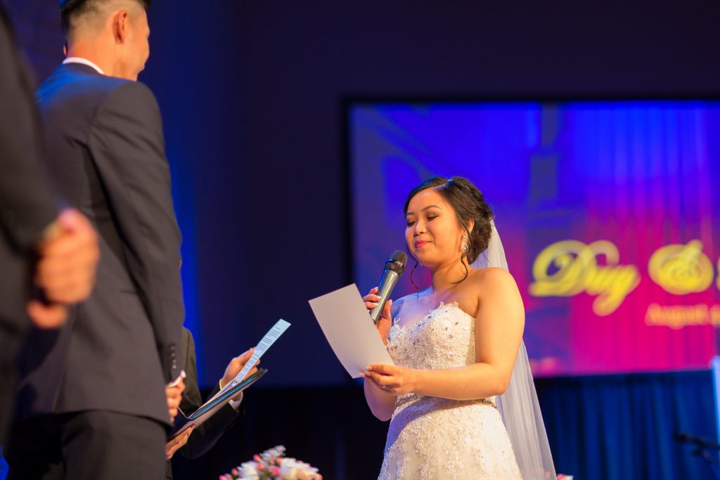bride wedding vows