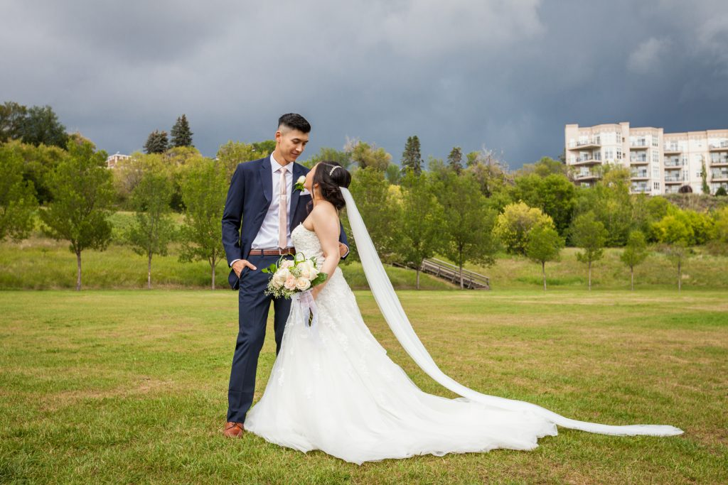 dramatic wedding portraits edmonton