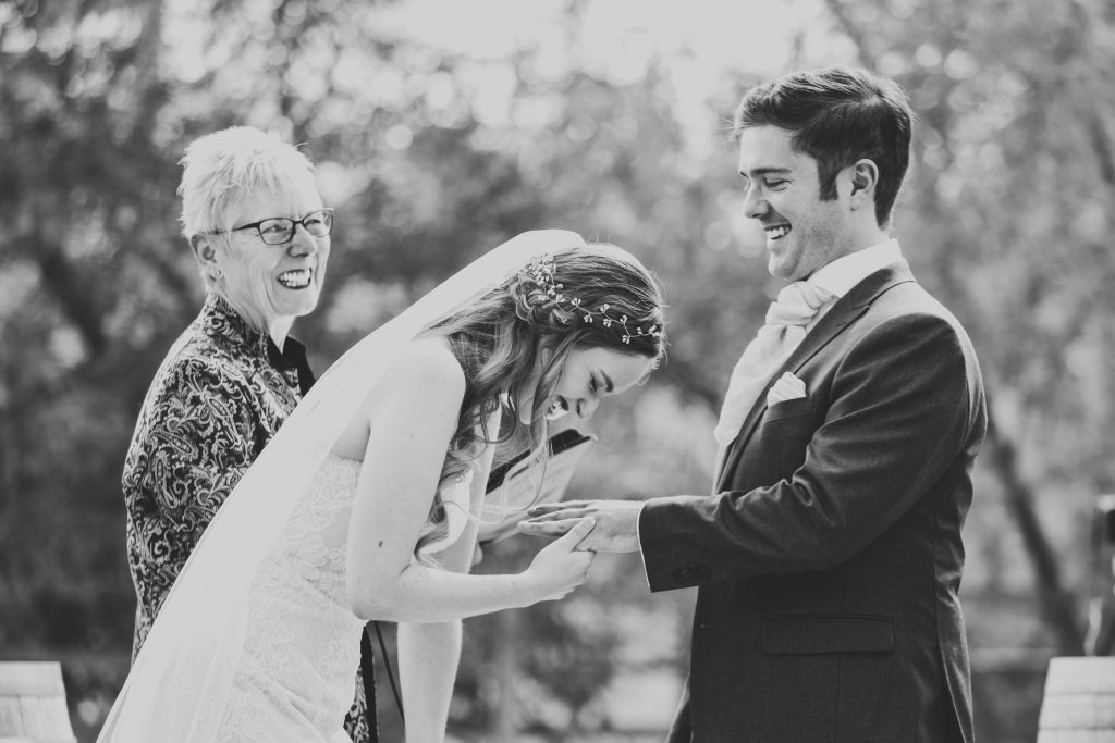 candid wedding ceremony moments