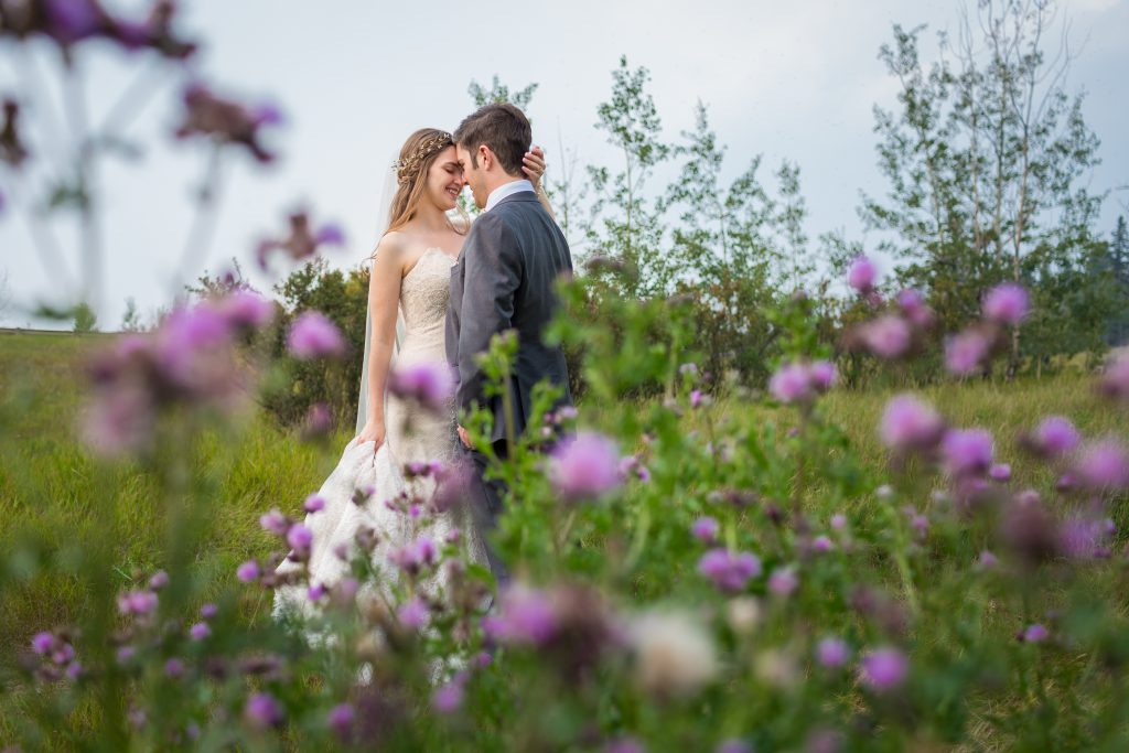 edmonton river valley wedding portraits