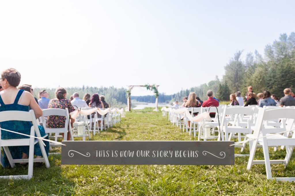 outdoor country wedding in whitecourt