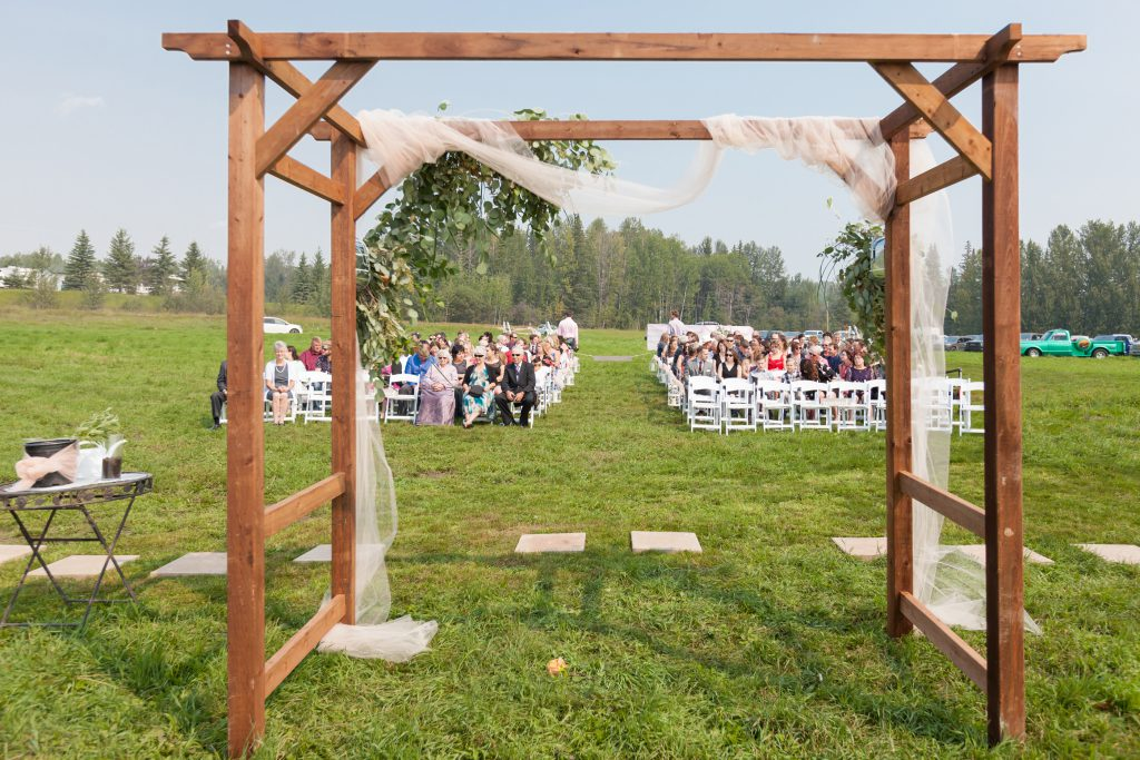 outdoor country wedding ceremony whitecourt