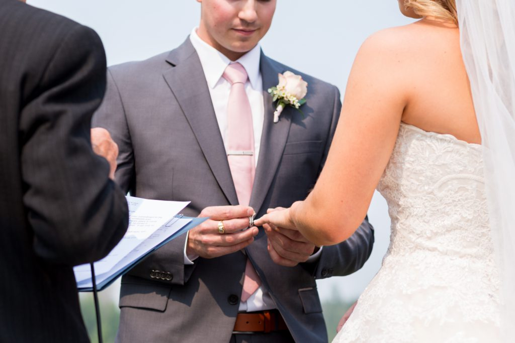 wedding ring exchange photo