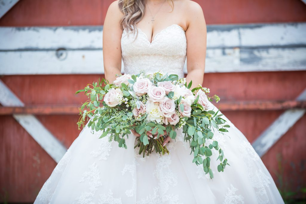 blush and pastel wedding bouquet