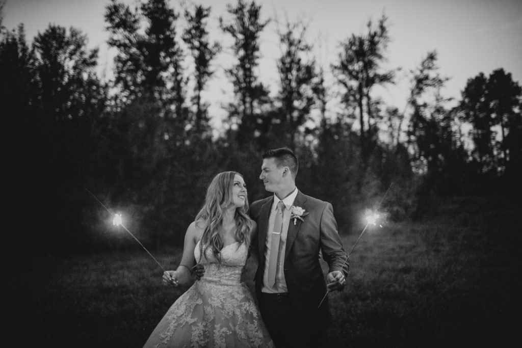 sparkler wedding photos