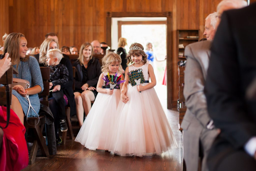 flower girls at st michaels church
