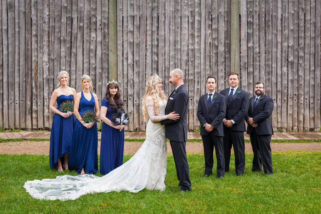 fort edmonton park wedding photos