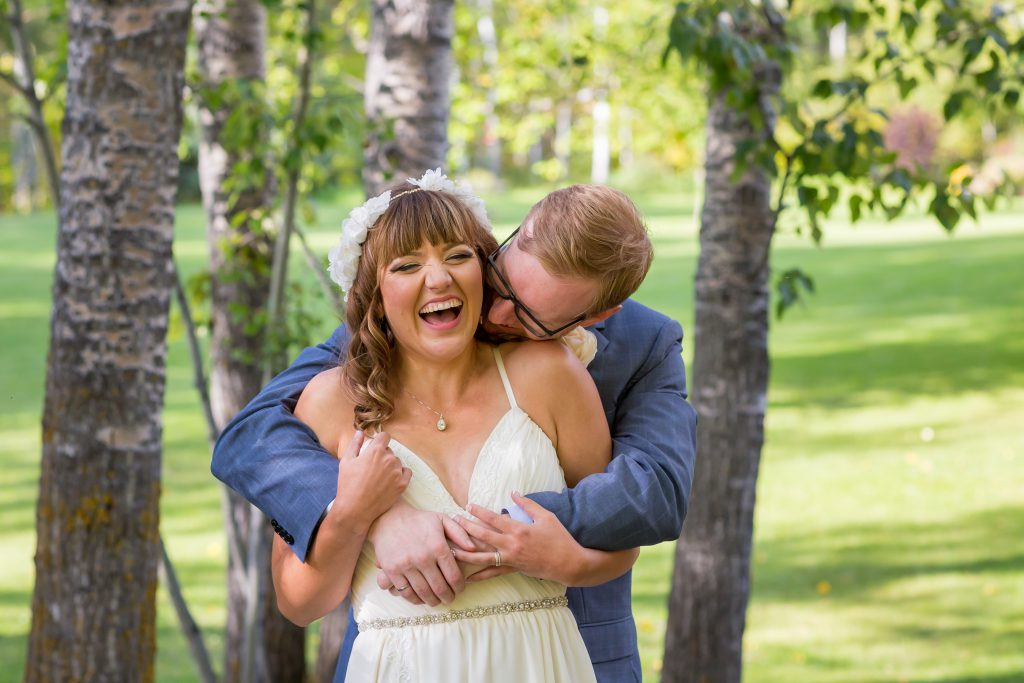 wedding portraits in forest