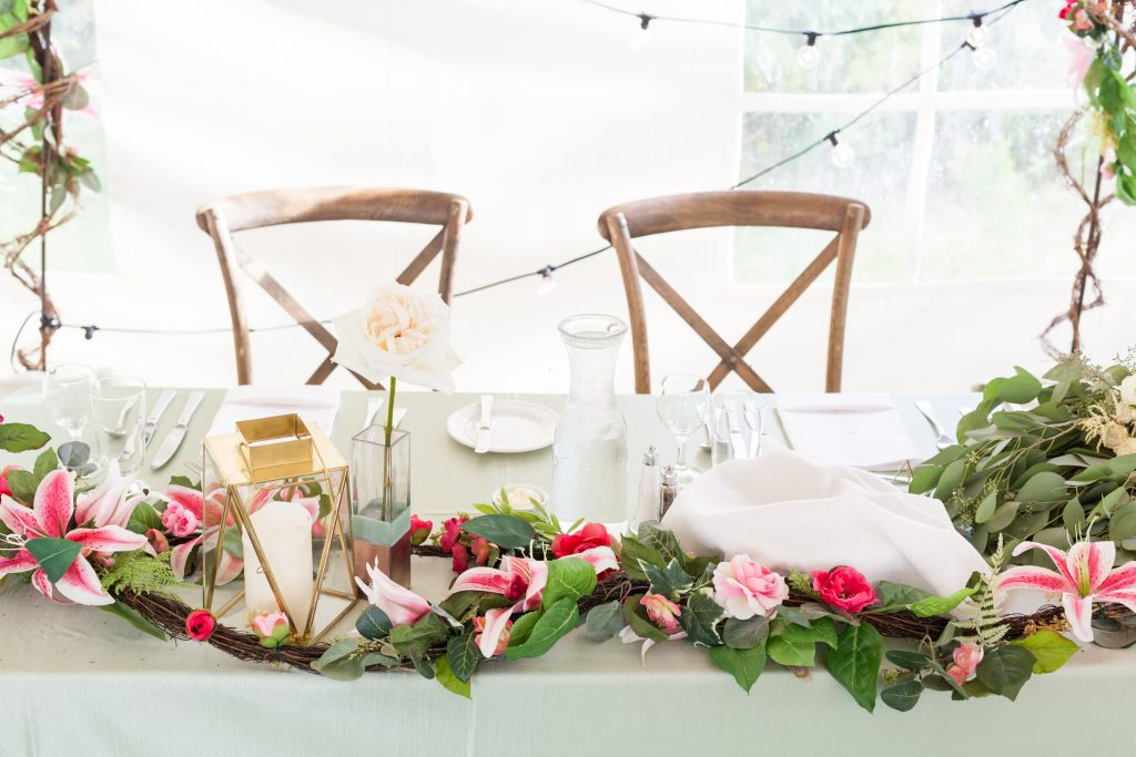 outdoor country wedding reception