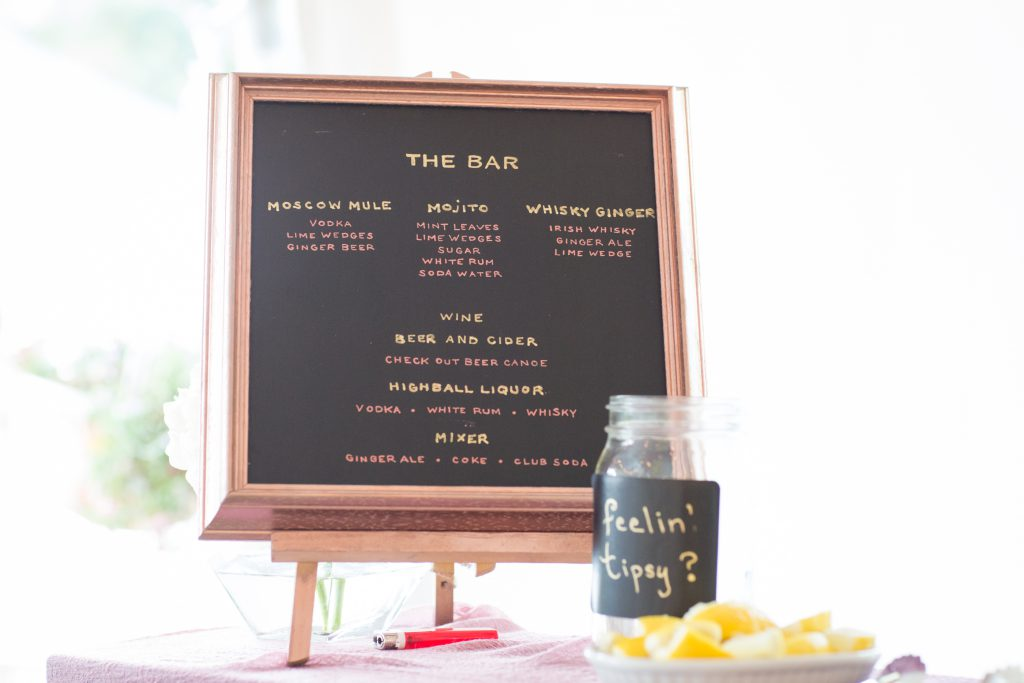 bride and groom signature drinks