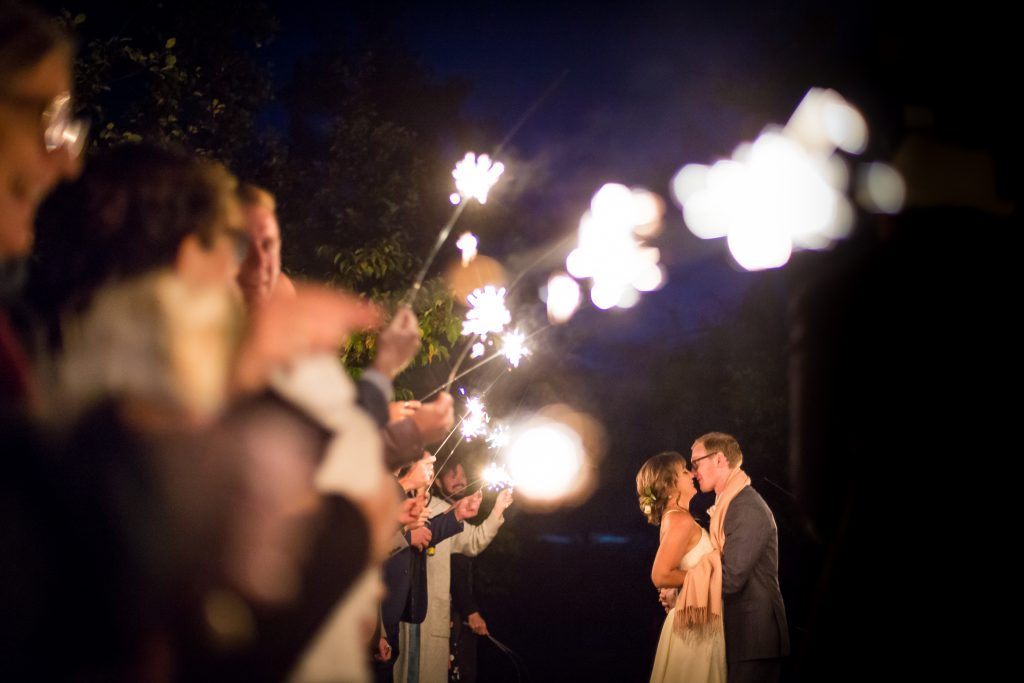 wedding sparkler photo