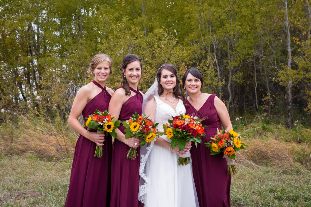 autumn bridesmaid portraits