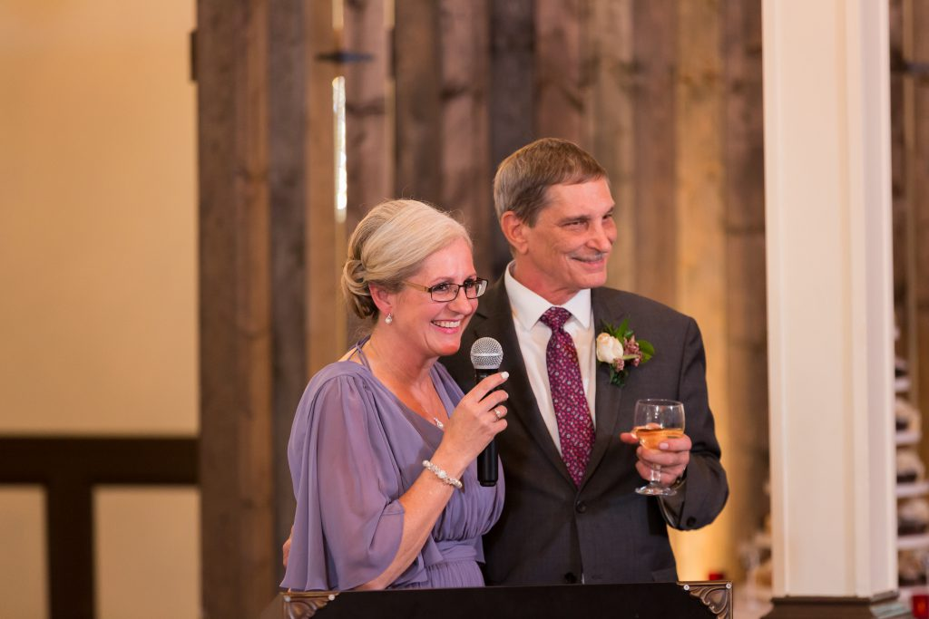parent speeches at wedding reception