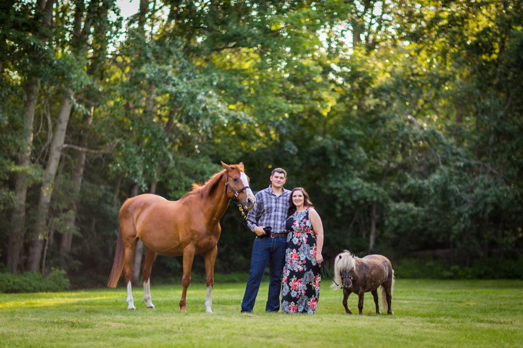 engagement photos taken at farm