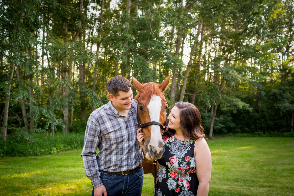 country engagement photos with horse