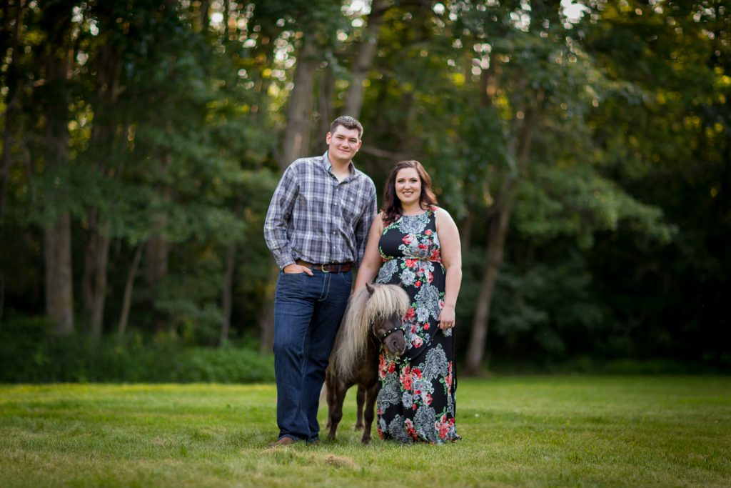 engagement photos in the country