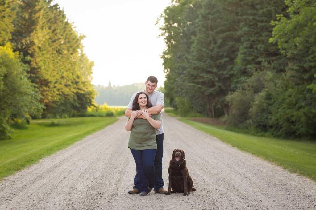 casual country engagement photos