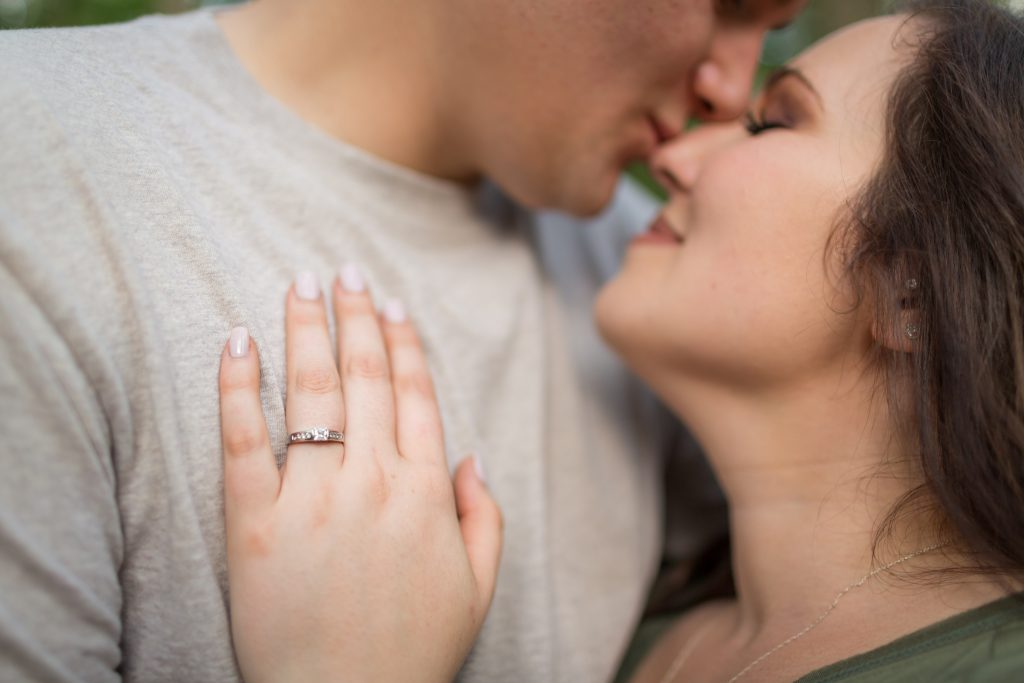 romantic country engagement photos