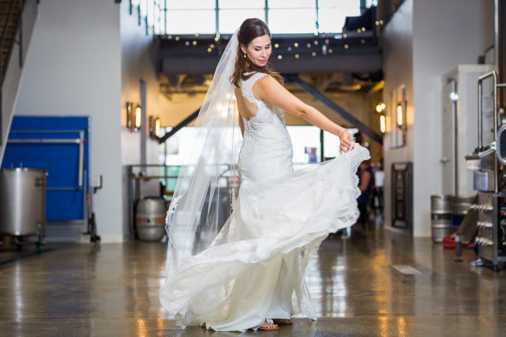 Fun portrait of bride