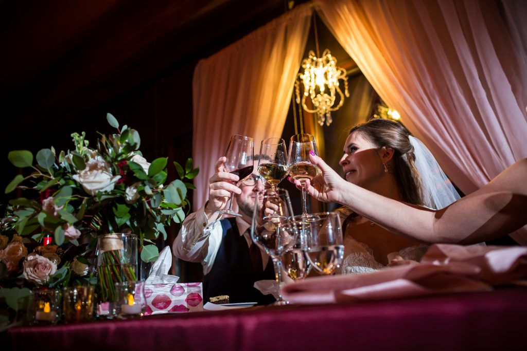 wedding head table toast