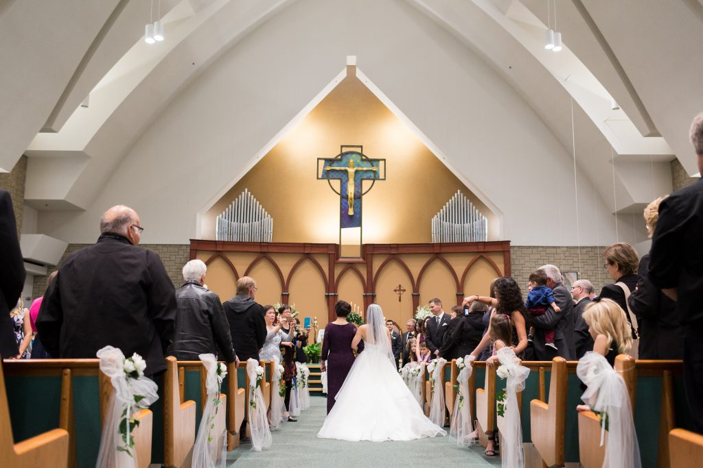 Edmonton church wedding at St Thomas More