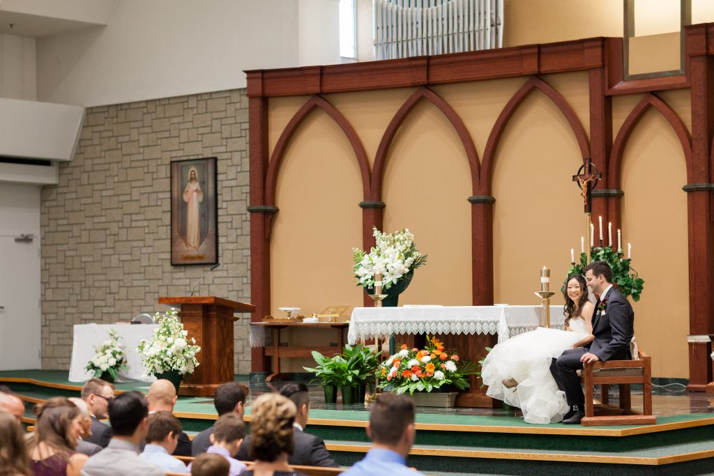 Catholic wedding ceremony venue Edmonton