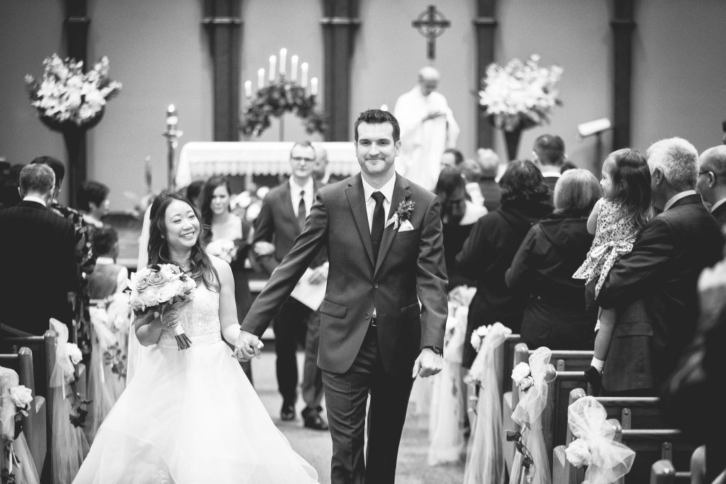 Wedding ceremony processional photos