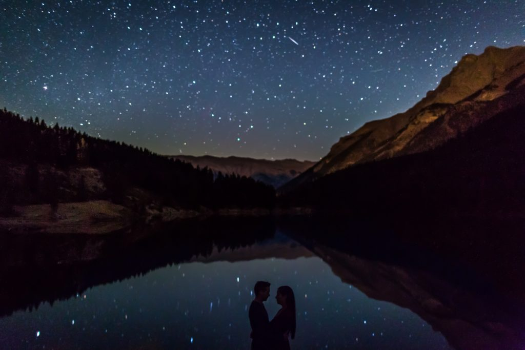 Engagement photos with the stars