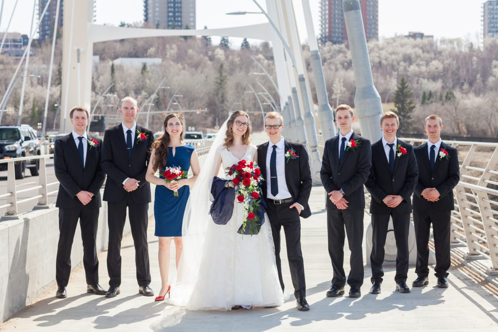Walterdale Bridge wedding photos