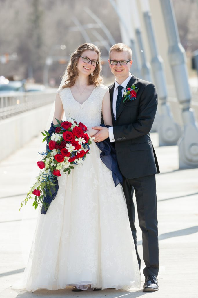 outdoor spring wedding edmonton