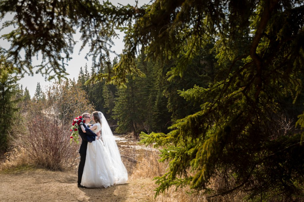 outdoor wedding photo location edmonton