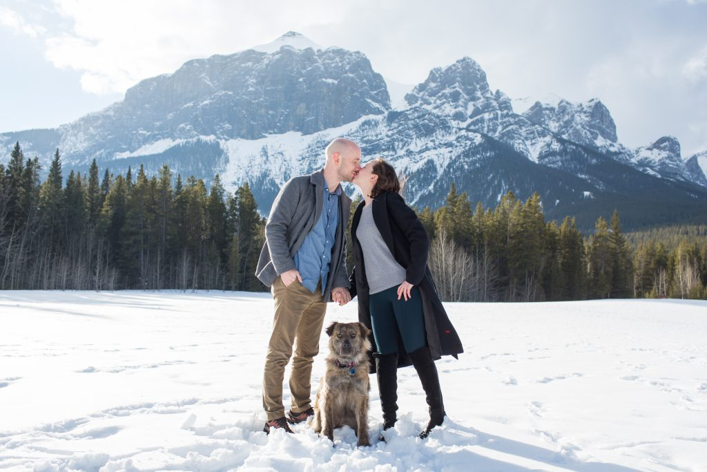 winter engagement in canmore