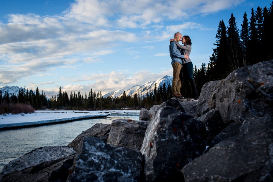Winter Engagement in Canmore – Chris & Kaitlyn