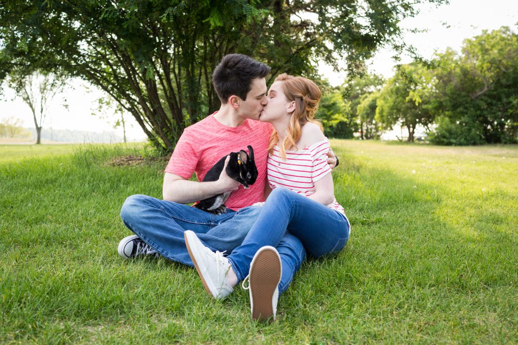 Edmonton engagement photos with pets