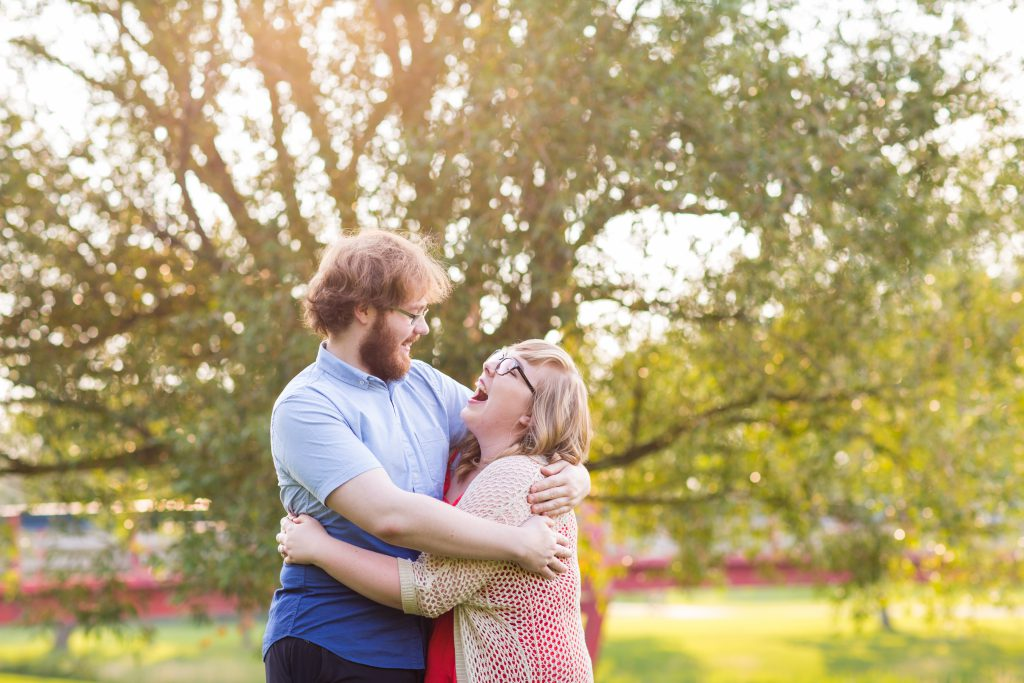 summer engagement photos in st albert