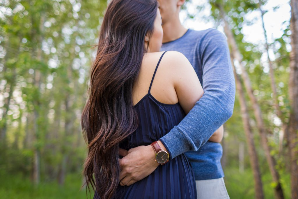 soft and romantic engagement photos edmonton
