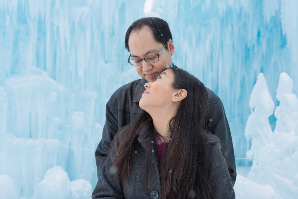 Romantic ice castle photos