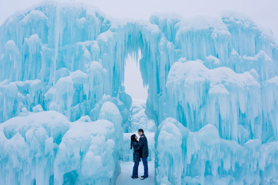 Ice Castle Engagement Photos – Chau Chau & Edward
