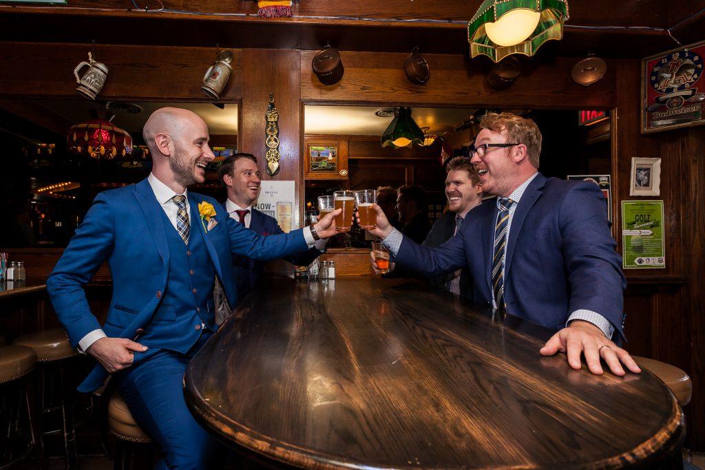 groomsmen bar photo