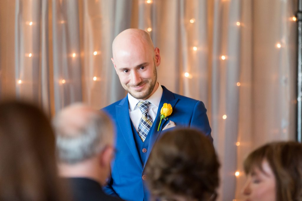groom seeing his bride