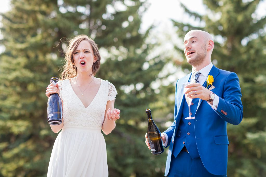 fun bride and groom photos